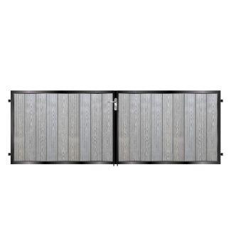 Short Metal Framed Composite Driveway Gates