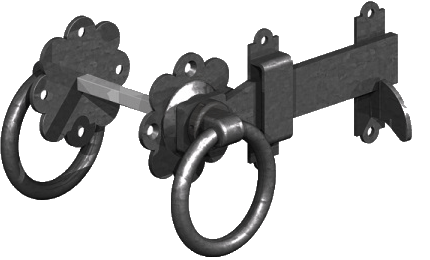 Black gate ring latch
