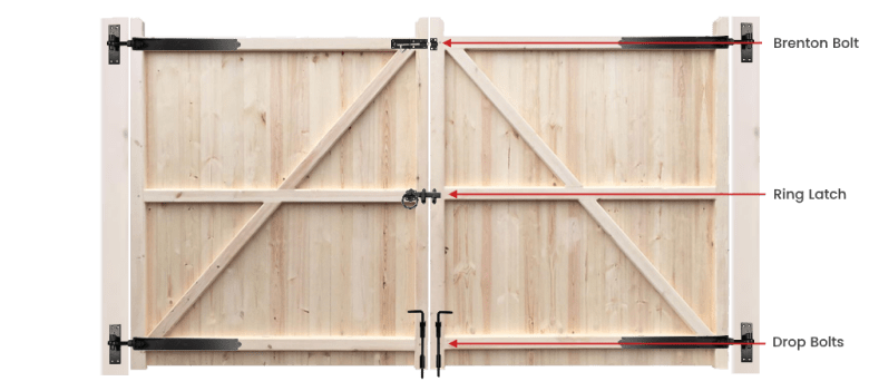 Gate furniture layout wooden driveway gate