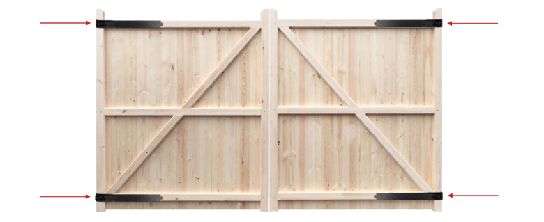 Hinge-placement-wooden-gates