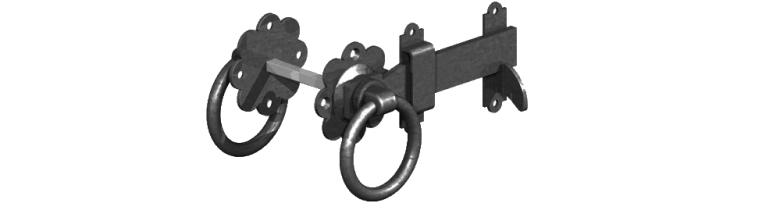Gate ring latch in black