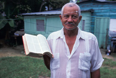 Man with Bible, Dominican Republic