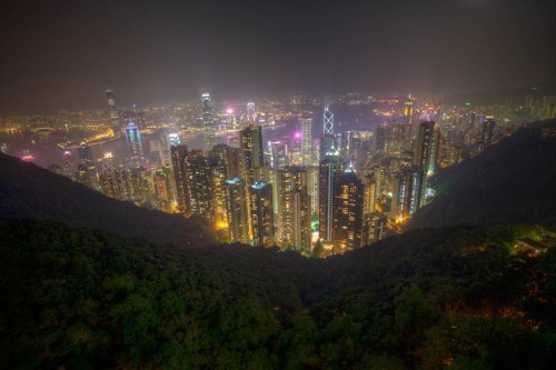 Hong Kong at Night from the Peak