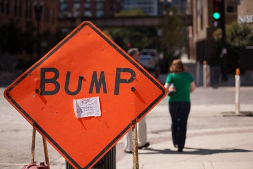 Bump and Grind street sign