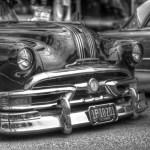 Black and White image I made of a 51 Pontiac at the Culver City Car Show