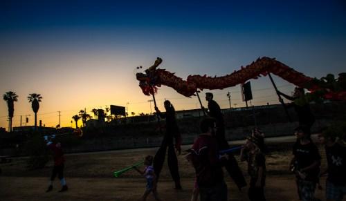 Chinese Dragon at twilight