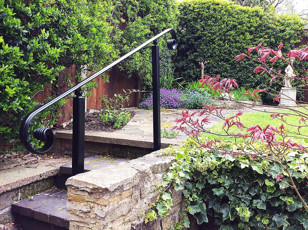 Wrought Iron Handrails Metal Handrails | Steel Handrails For Concrete Steps