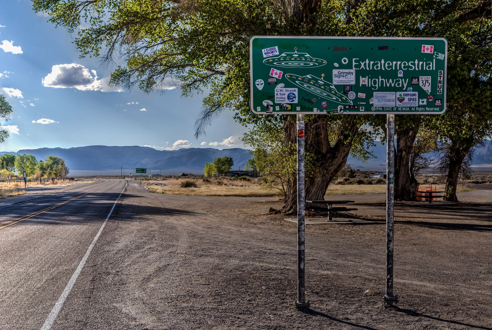 Geocaching along the Extraterrestrial Highway