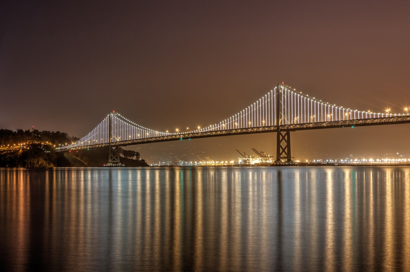 The Bay Lights Installation on the San Francisco Bay Bridge is back