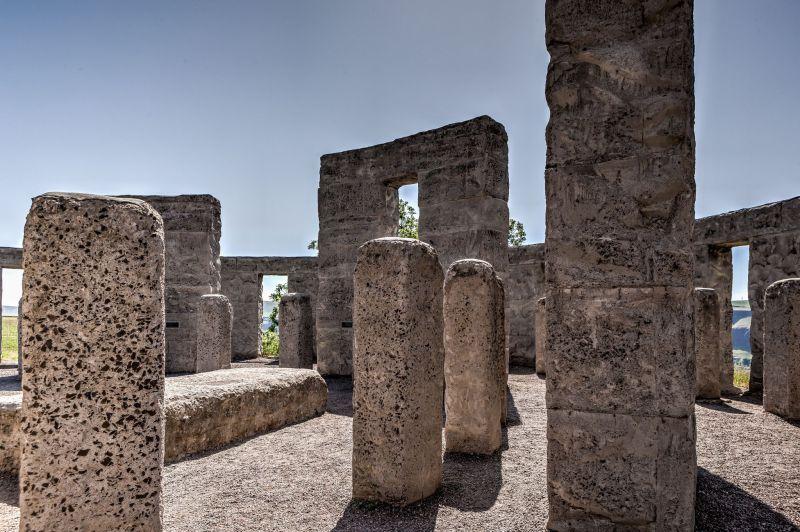 Inside Maryhill Stonehenge