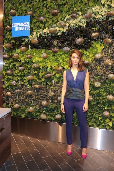 Emmy Rossum attends The Opening Of The Centurion Lounge celebrated by American Express at Miami International Airport on June 2, 2015 in Miami, Florida. (Photo by John Parra/Getty Images for American Express)