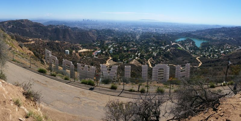At the back of the Hollywood Sign