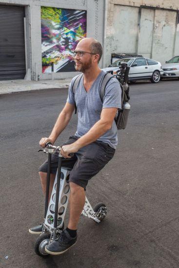 JR on an URB-E Bike