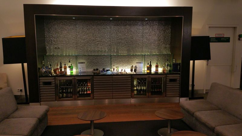 Bar with drinks and wines