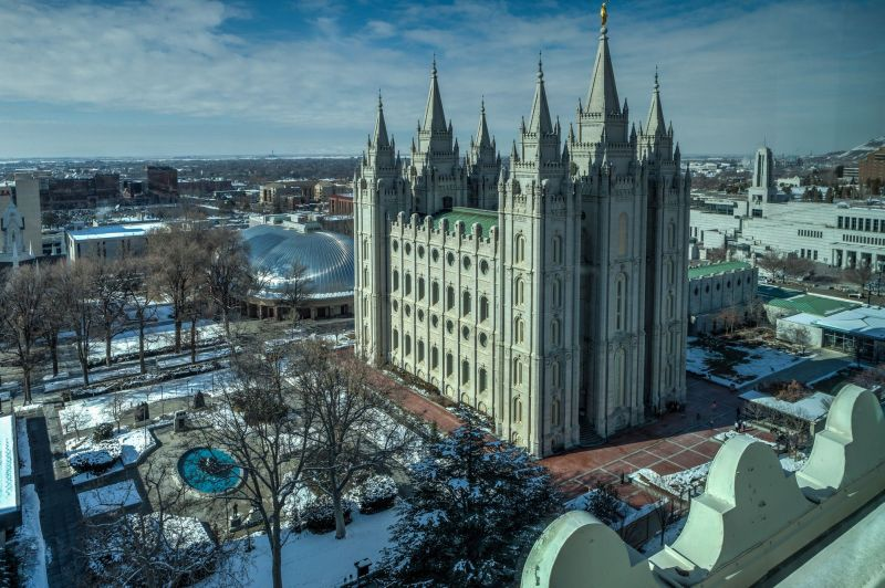 Temple Square - View from the Joseph Smith Memorial Building