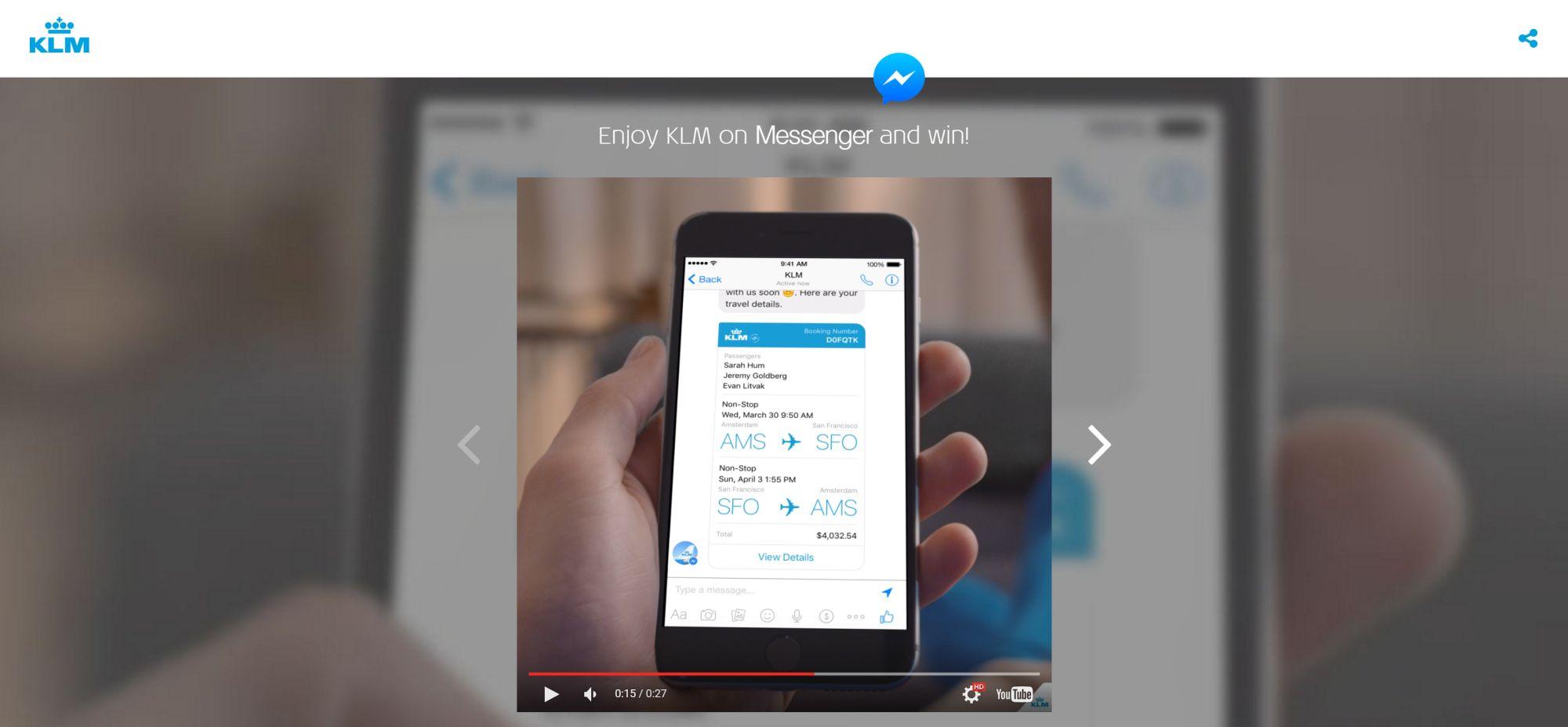 KLM is now on Facebook Messenger