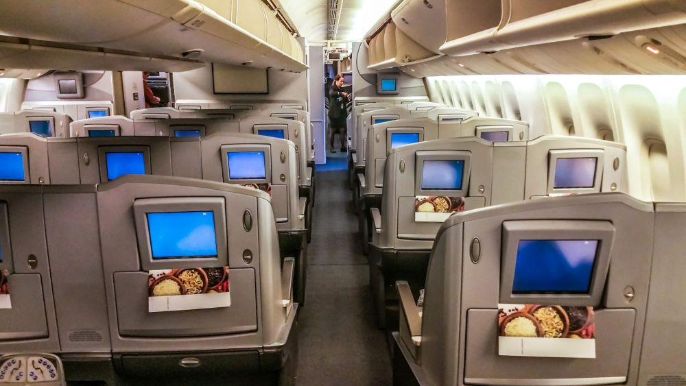 Business Class aboard the Boeing 777-200