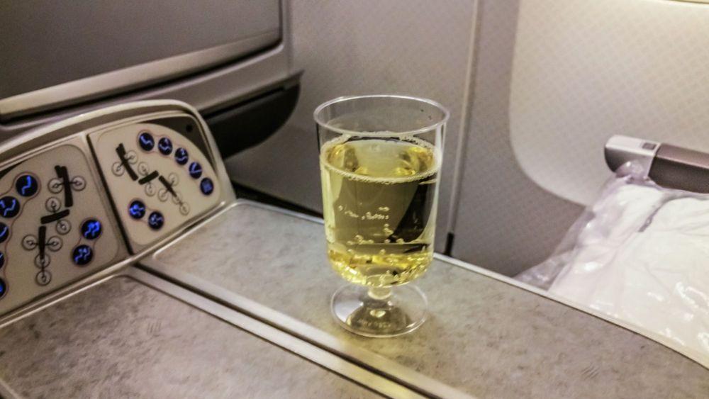 Champagne Pre-Departure Drink