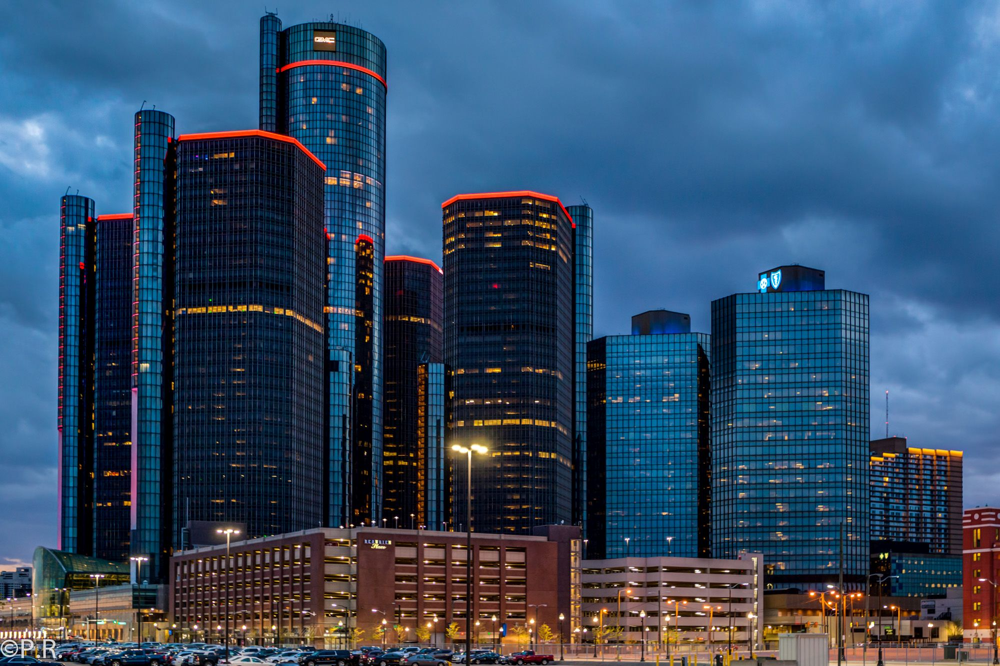 Photo of the week gm renaissance center in the motor city for Motor city auto center