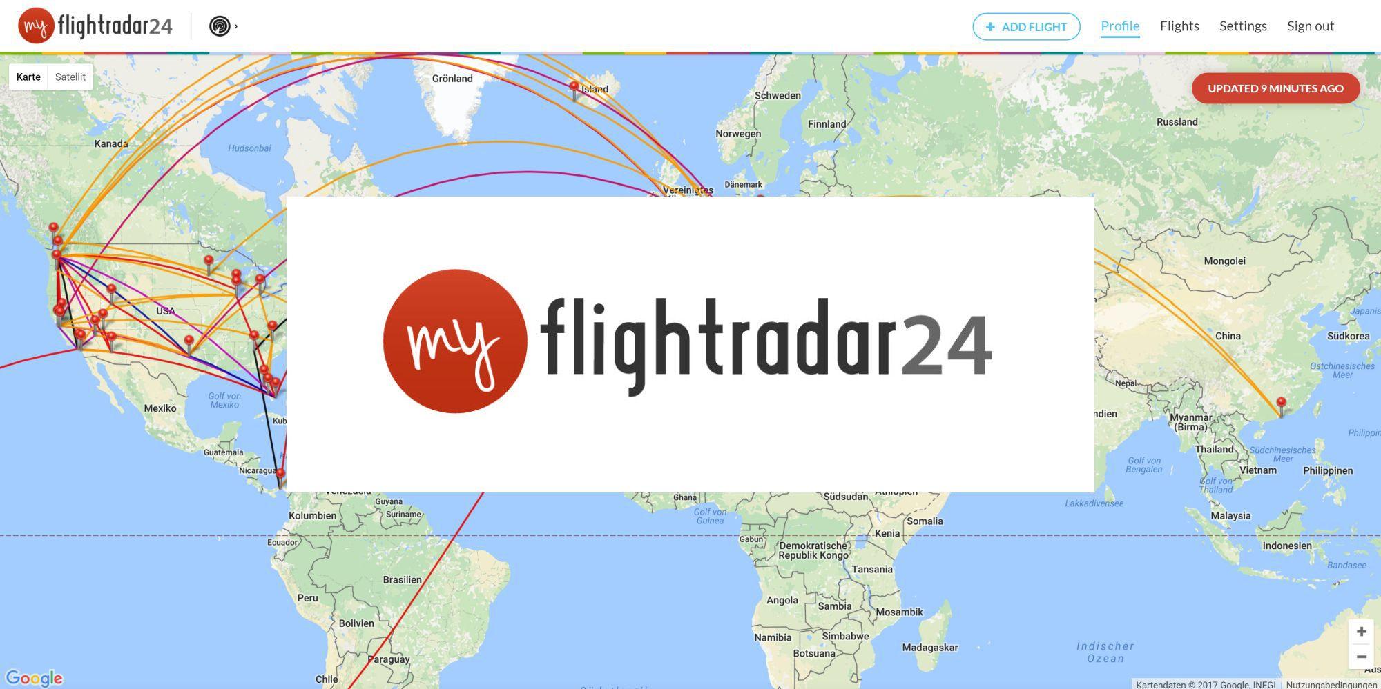 Flightdiary.com becomes myFlightradar24.com