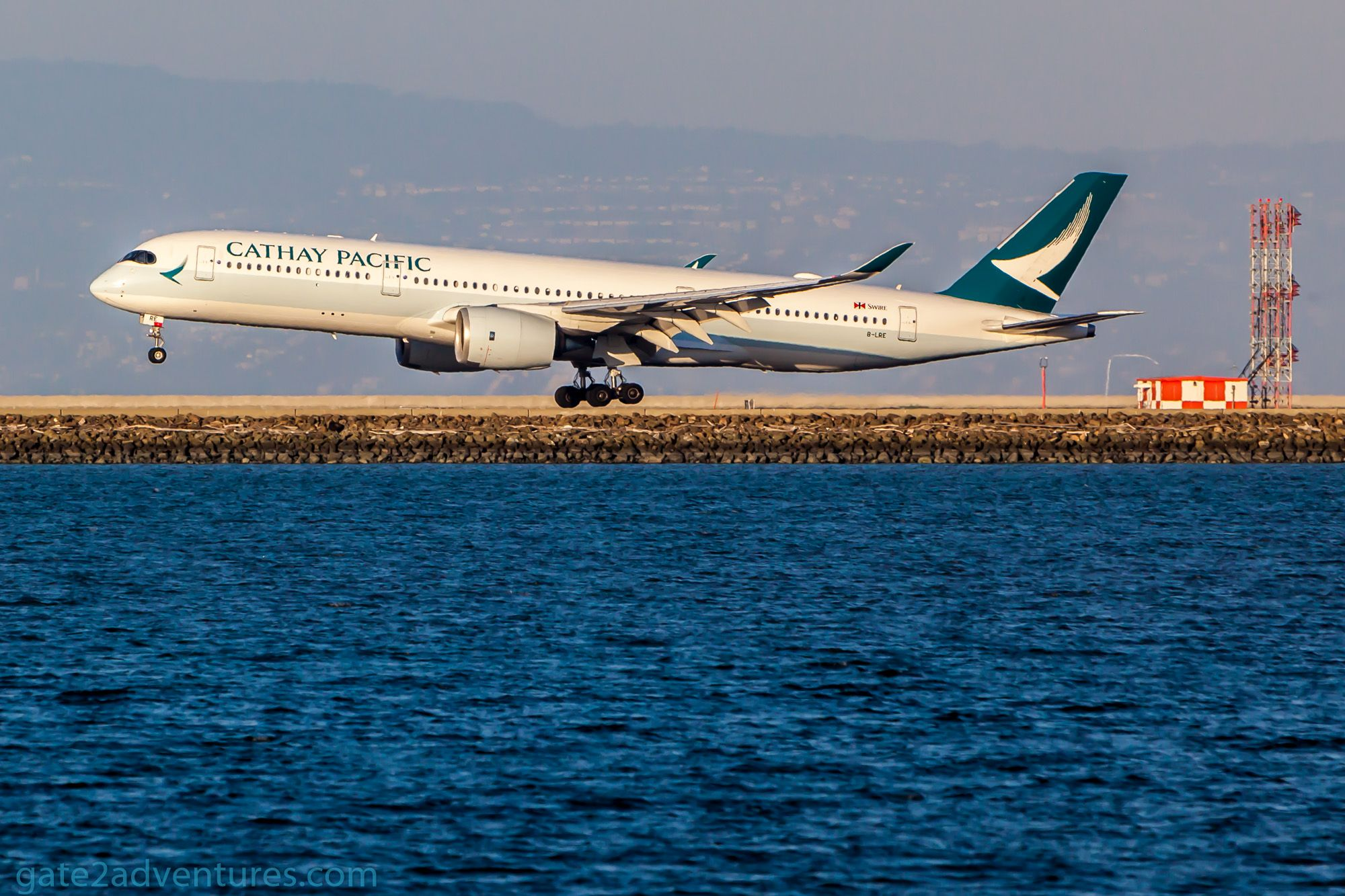 Cathay Pacific's A350 Inaugural  Flight to SFO