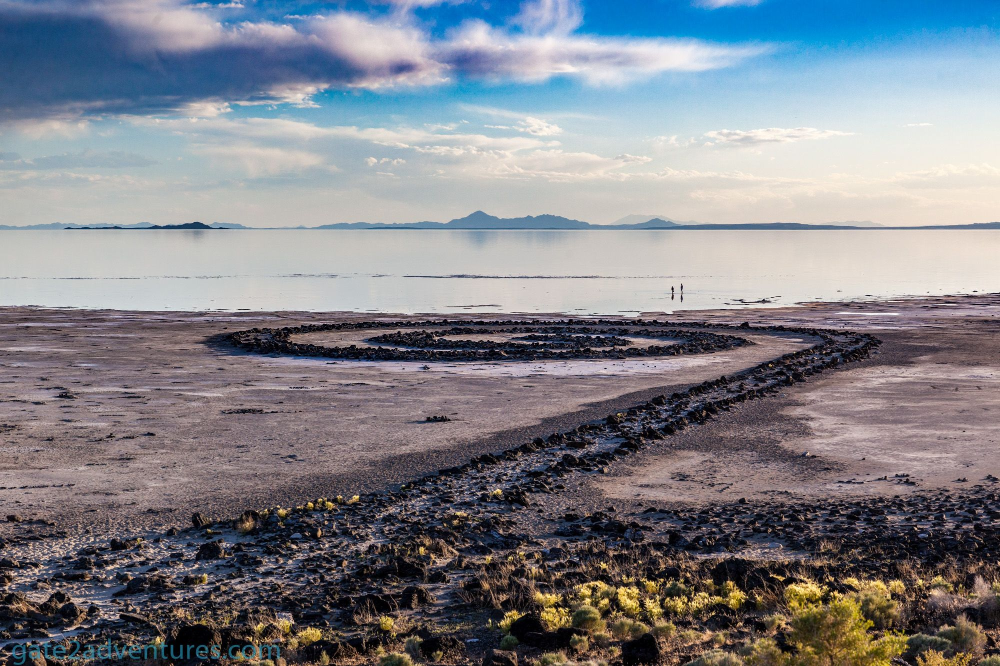 Visiting the Spiral Jetty at Rozel Point, Great Salt Lake