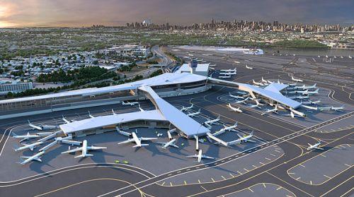 LGA Terminal B Exterior Rendering
