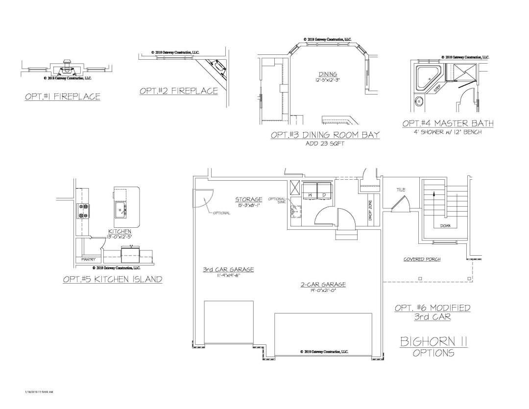 Bighorn II GL Fplan Options