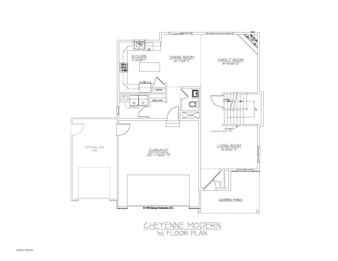 Cheyenne GL 1st Floor Plan - M