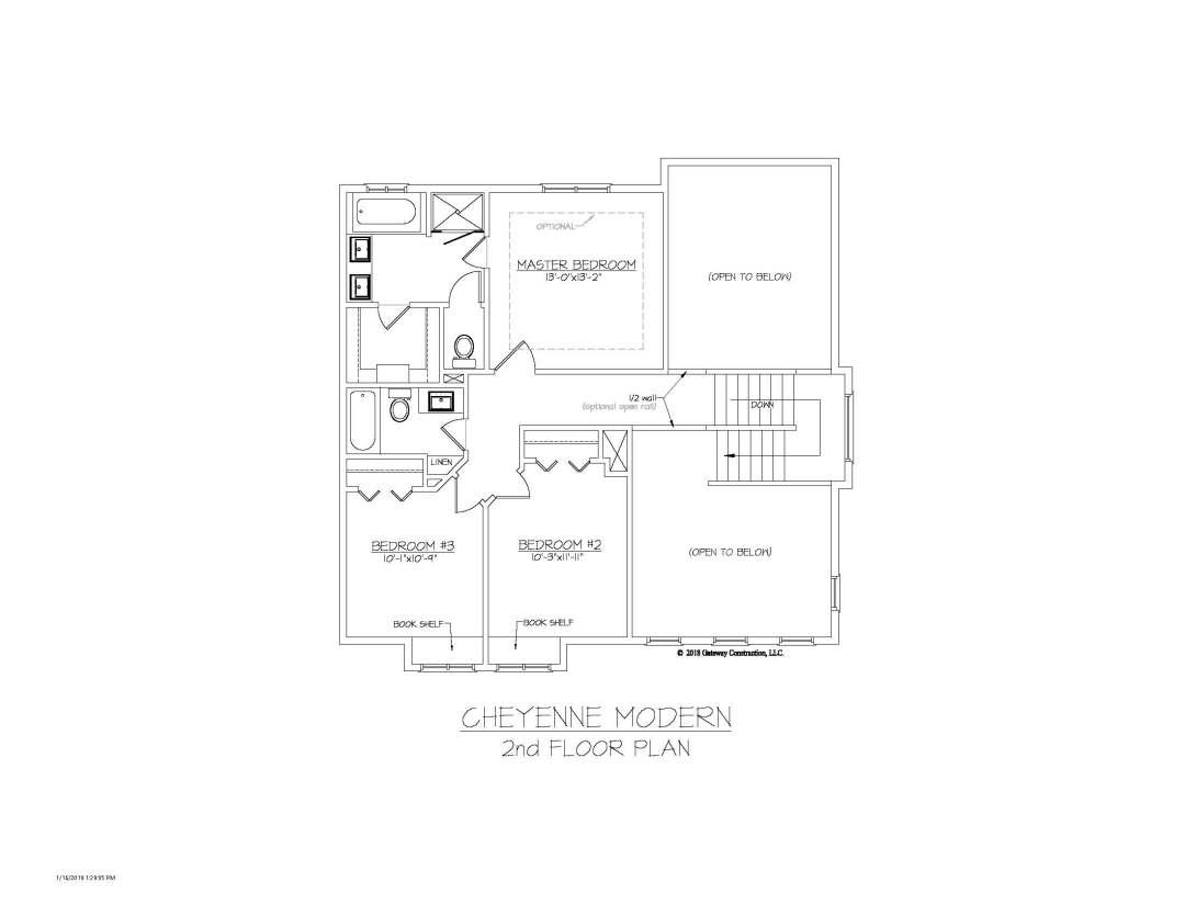 Cheyenne GL 2nd Floor Plan - M