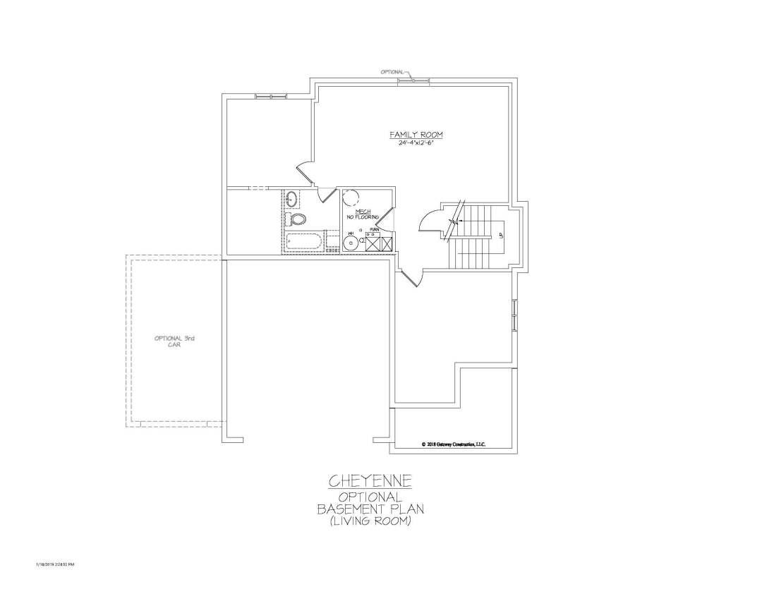Cheyenne GL Basement Living Room Finish