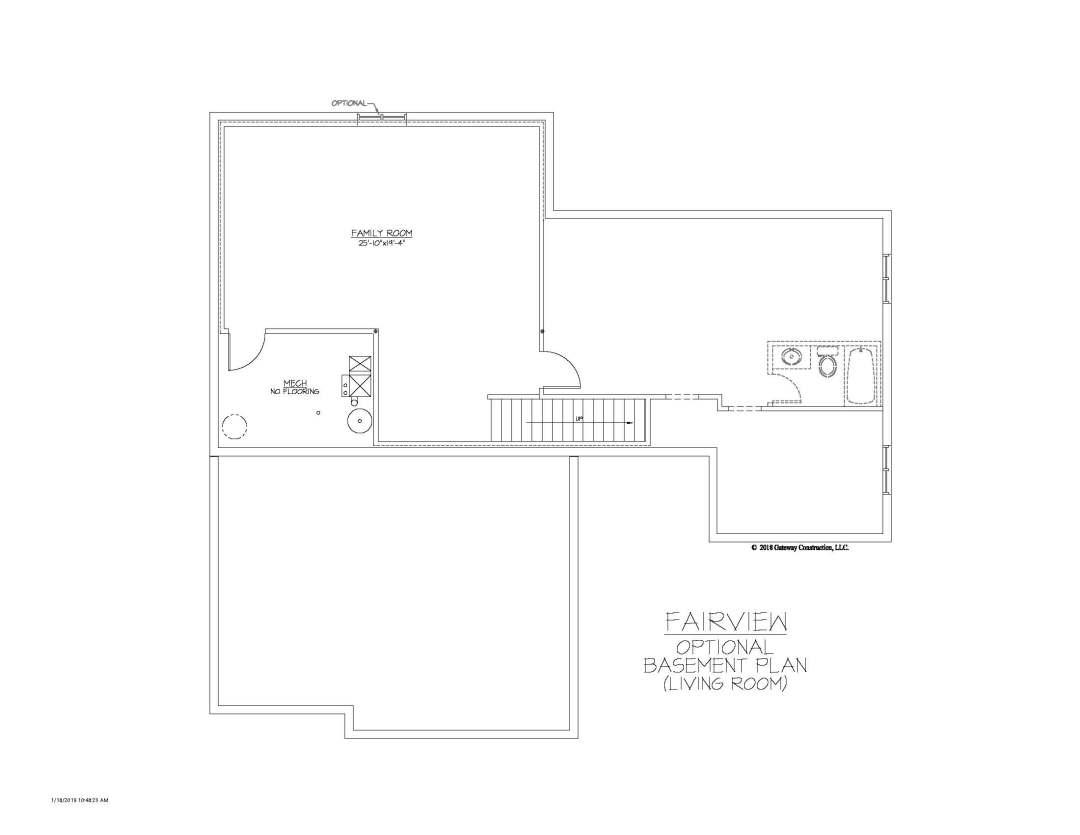 Fairview GL Basement Living Room Finish
