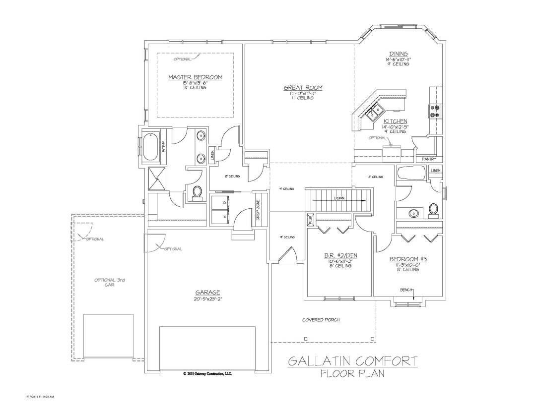 Gallatin GL Floor Plan - C
