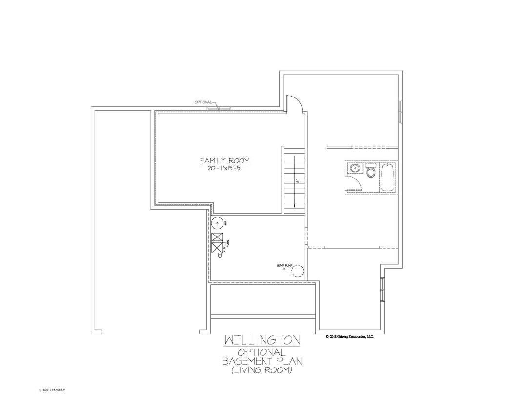 Wellington GL Basement Living Room Finish