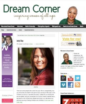 Jody Day interviewed by Viv Oyolu on Dream Corner Radio