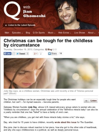 Q Interview - Childless at Xmas