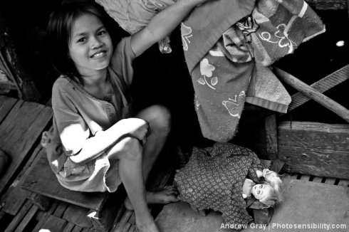 A Cambodian girl with her dolls | Andy Gray | Photosensibility.com
