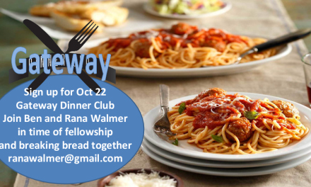 Gateway Dinner Club for October 22nd
