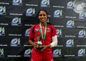 Magali Harvey scored arguably the try of the tournament against France - Photo: Dan Sheridan/INPHO