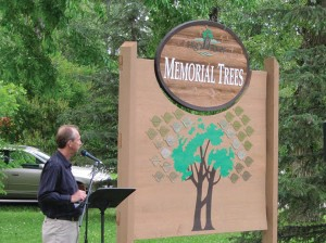 The first Memorial Tree Ceremony was held in 2011 when the plaque was first unveiled in George Lane Park by Mayor Emil Blokland