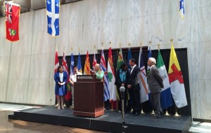 President Chartier addressing media following meeting with premiers & National Aboriginal Leaders