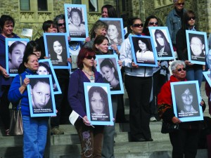 Photo caption: Every year, on October 4, the families of missing and murdered First Nations, Inuit and Métis women and girls hold vigils across Canada to honour the lives of loved ones.