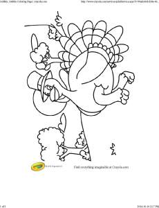 Gobble, Gobble Coloring Page _ crayola
