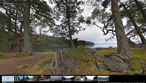 View of Gulf Islands National Park Reserve Courtesy of Google Canada