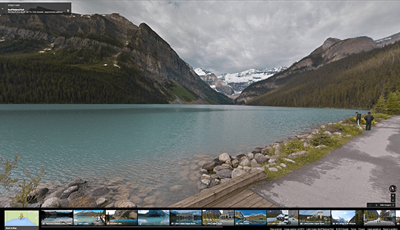 View of Lake Louise Courtesy of Google Canada