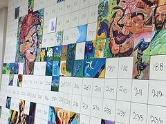 Pubble People Mural in progress