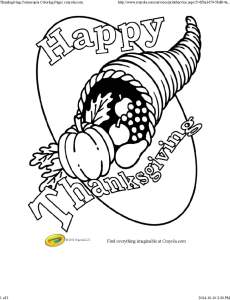 Thanksgiving Cornucopia Coloring Page _ crayola