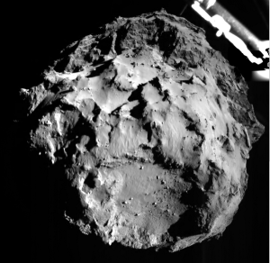 Shot taken by Philae Lander at just 3km out from the comet.