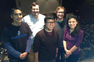 The GlobalHack team that won $50,000 from Emerson.