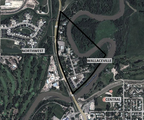 Wallaceville High River - arial